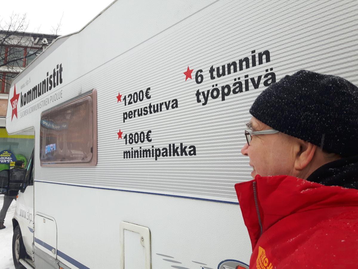 SKP:n vaalikiertue ympäri Helsinkiä